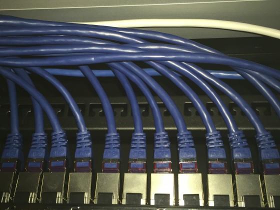 Patchfeld für Netzwerk Unterverteilung in der Wohnung