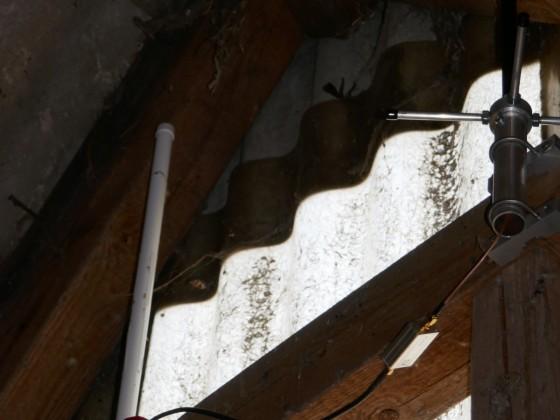 Die beiden Flightradar-Antennen