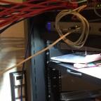 Netzwerk Kabel Vorbereitung für den Serverschrank